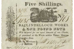 Balfron 5 shillings note