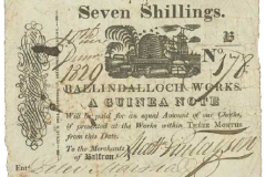 Balfron 7 shillings note