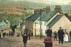 Balfron Village (coloured) from old postcard