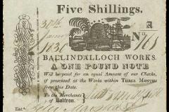 Balfron 5 shillings