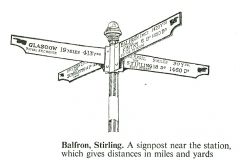Balfron sign from AA road book of Scotland c1960