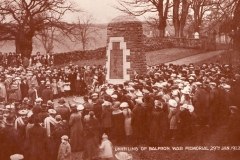 Balfron War Memorial, 1922