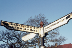 Sign on A81 in 1975